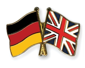 Flags of Germany and Great Britain